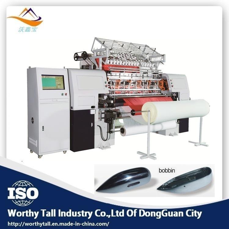 Computerized chain stitch multi needle quilting machine