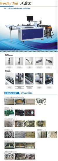 High Efficiency Auto Bending Machine for Die Cutting Die Making